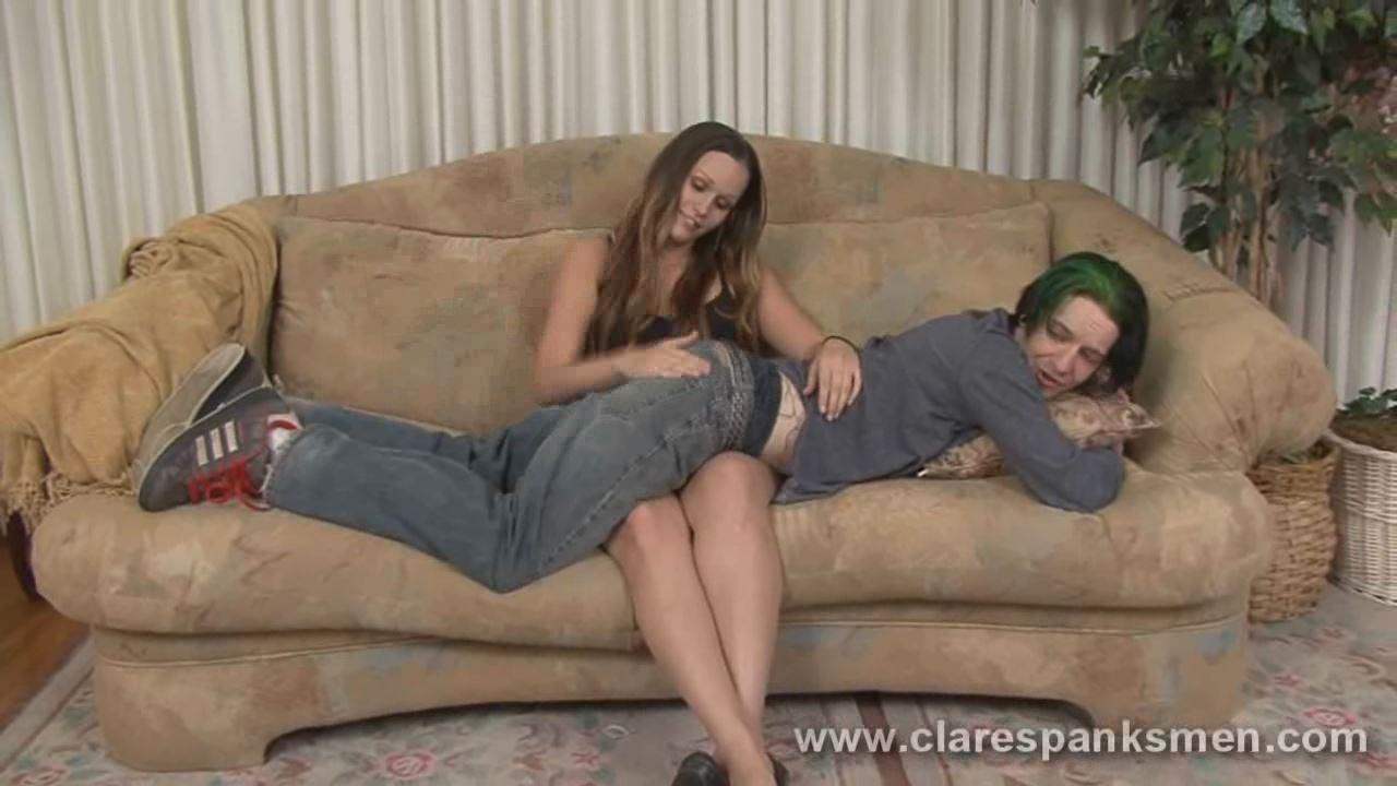 Sisterinlaw spank femdom Merv ClareSpanksMen