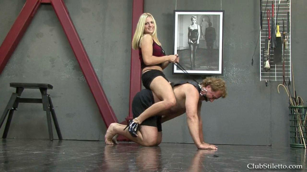 Mistress Britney In Scene: Riding MY Bitch Mule - CLUBSTILETTO - HD/720p/MP4