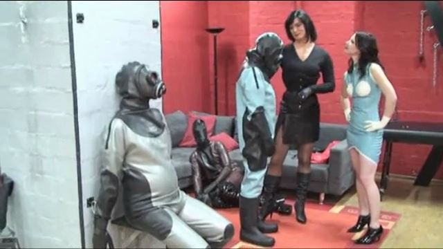Lady Joy van Doren, Annika Bond In Scene: Packed up air tight in latex - ERONITE-FEMDOM - LQ/360p/MP4