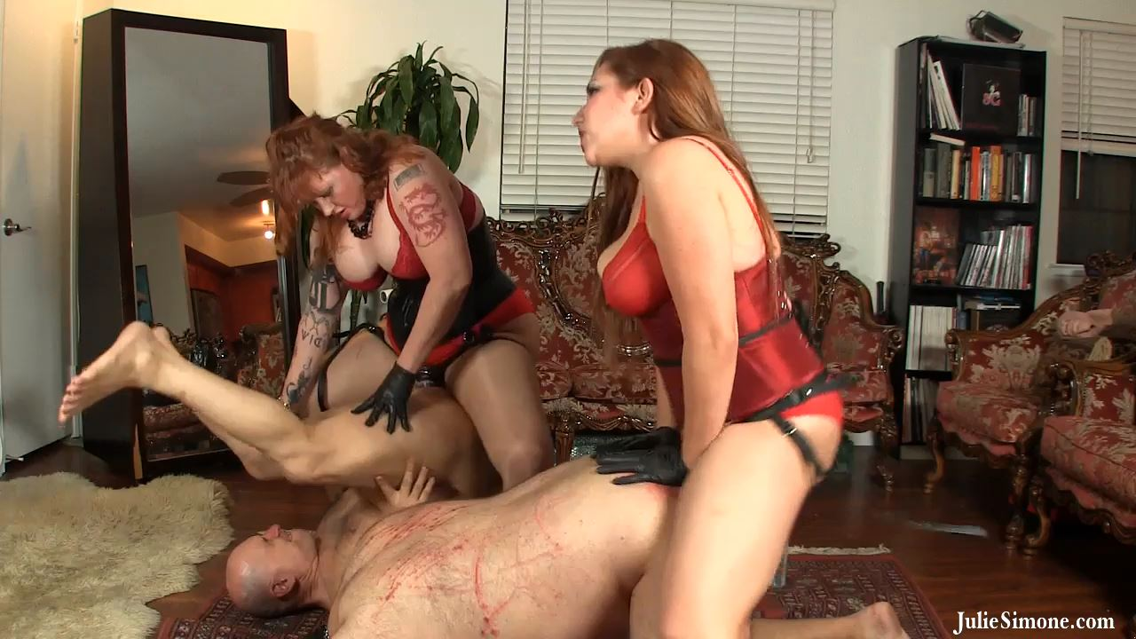 Elena DeLuca, Julie Simone In Scene: Pegging Party w Ass to Mouth - JULIESIMONE - HD/720p/MP4