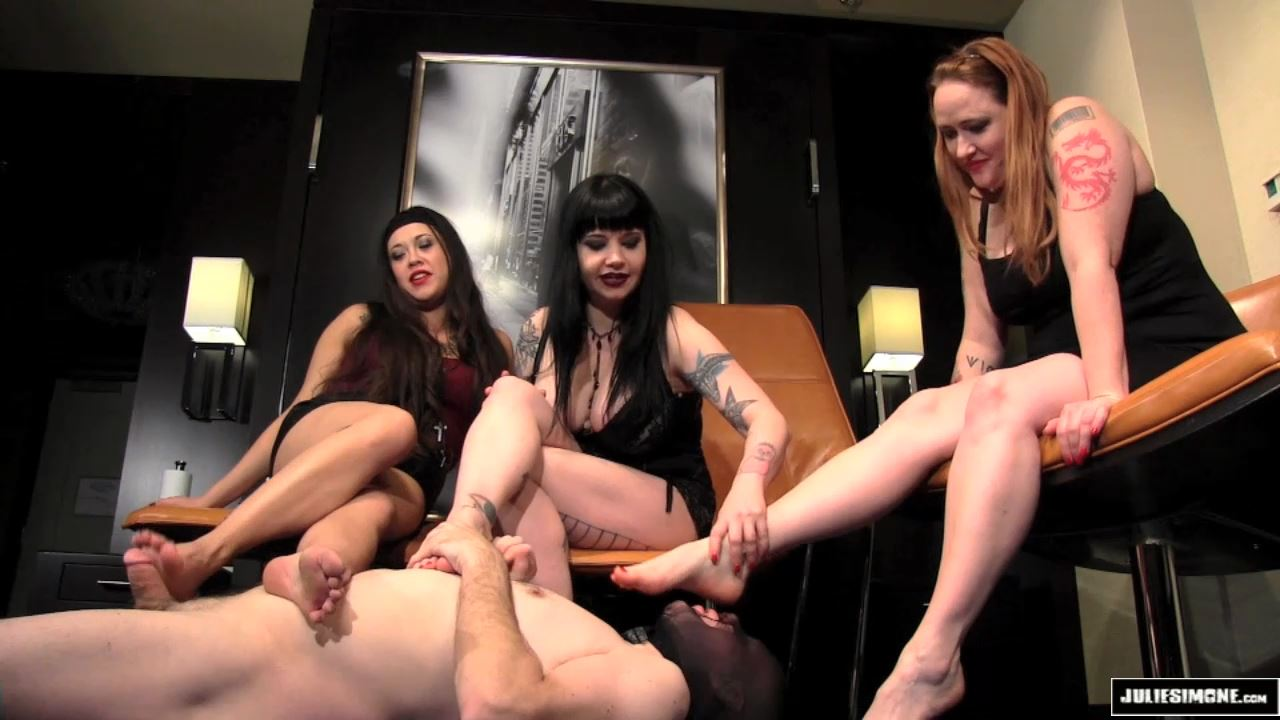 Maya Sinstress, Eden Alexander, Julie Simone In Scene: Foot Slave Auditions Part 3 - JULIESIMONE - HD/720p/MP4