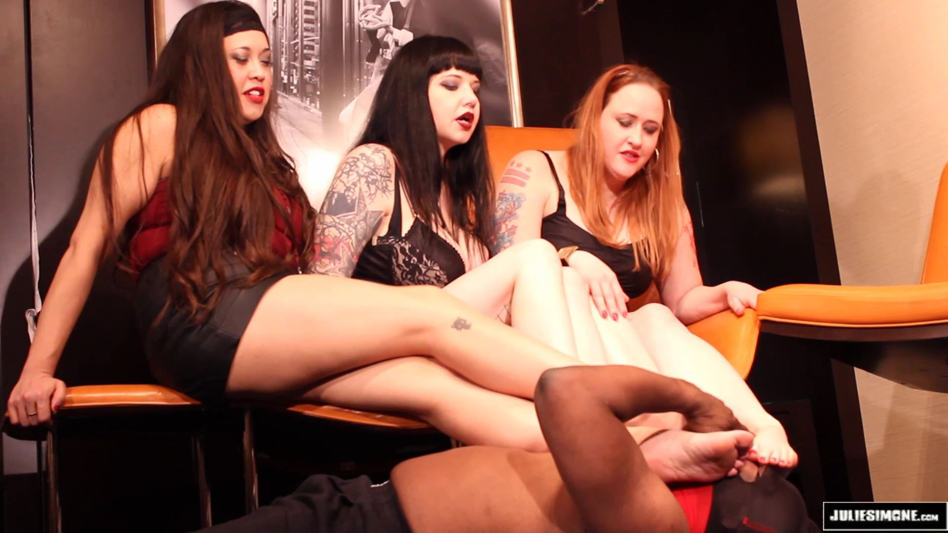 Eden Alexander, Maya Sinstress, Julie Simone In Scene: Foot Slave Auditions Part 2 - JULIESIMONE - FULL HD/1080p/MP4