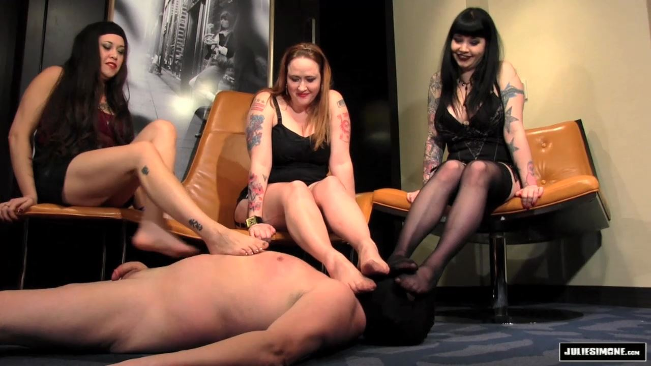 Eden Alexander, Maya Sinstress, Julie Simone In Scene: Footslave Auditions Part 1 - JULIESIMONE - HD/720p/MP4
