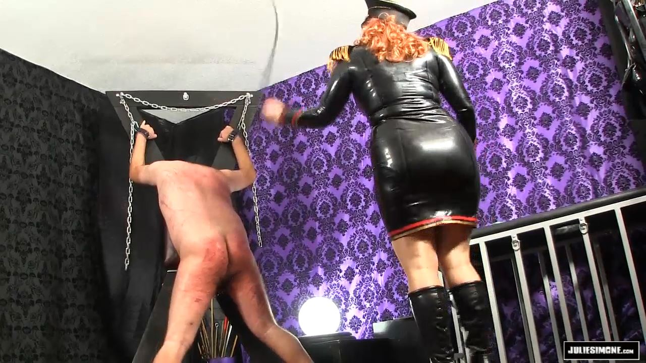 Julie Simone In Scene: Whipping in Military Latex - JULIESIMONE - HD/720p/MP4
