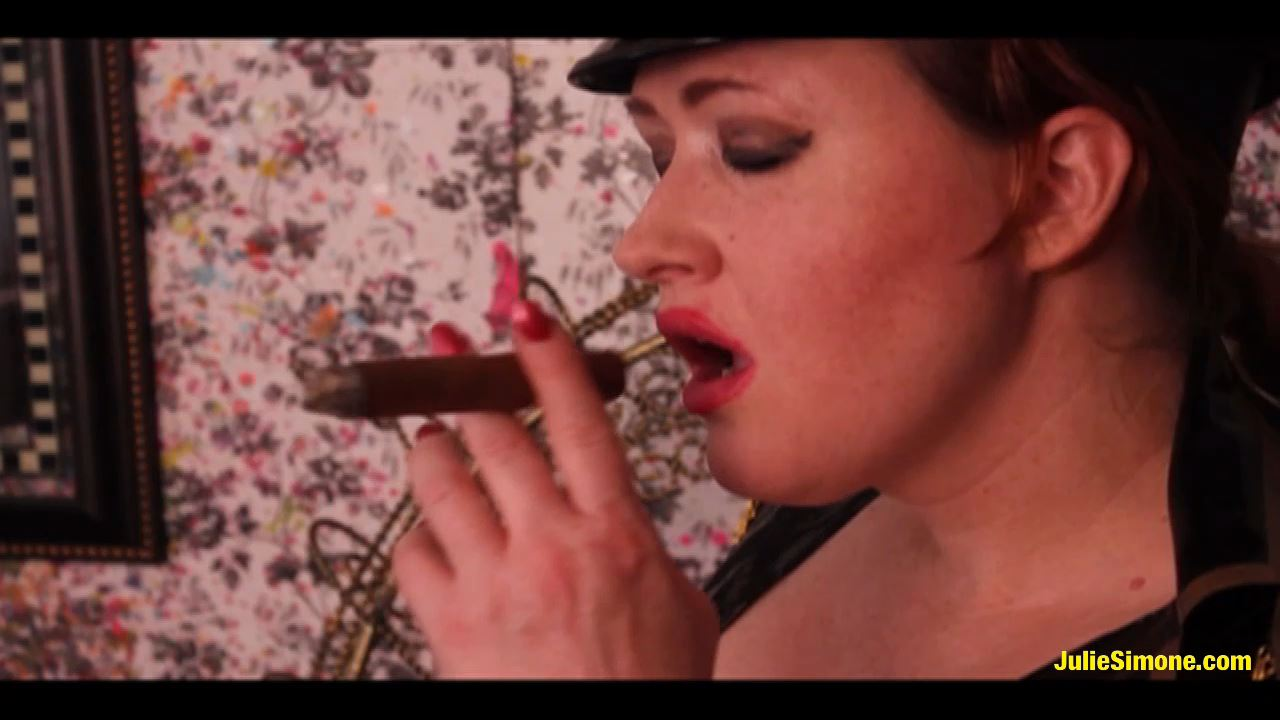 Julie Simone In Scene: Cigar Smoke in Uniform - JULIESIMONE - HD/720p/MP4