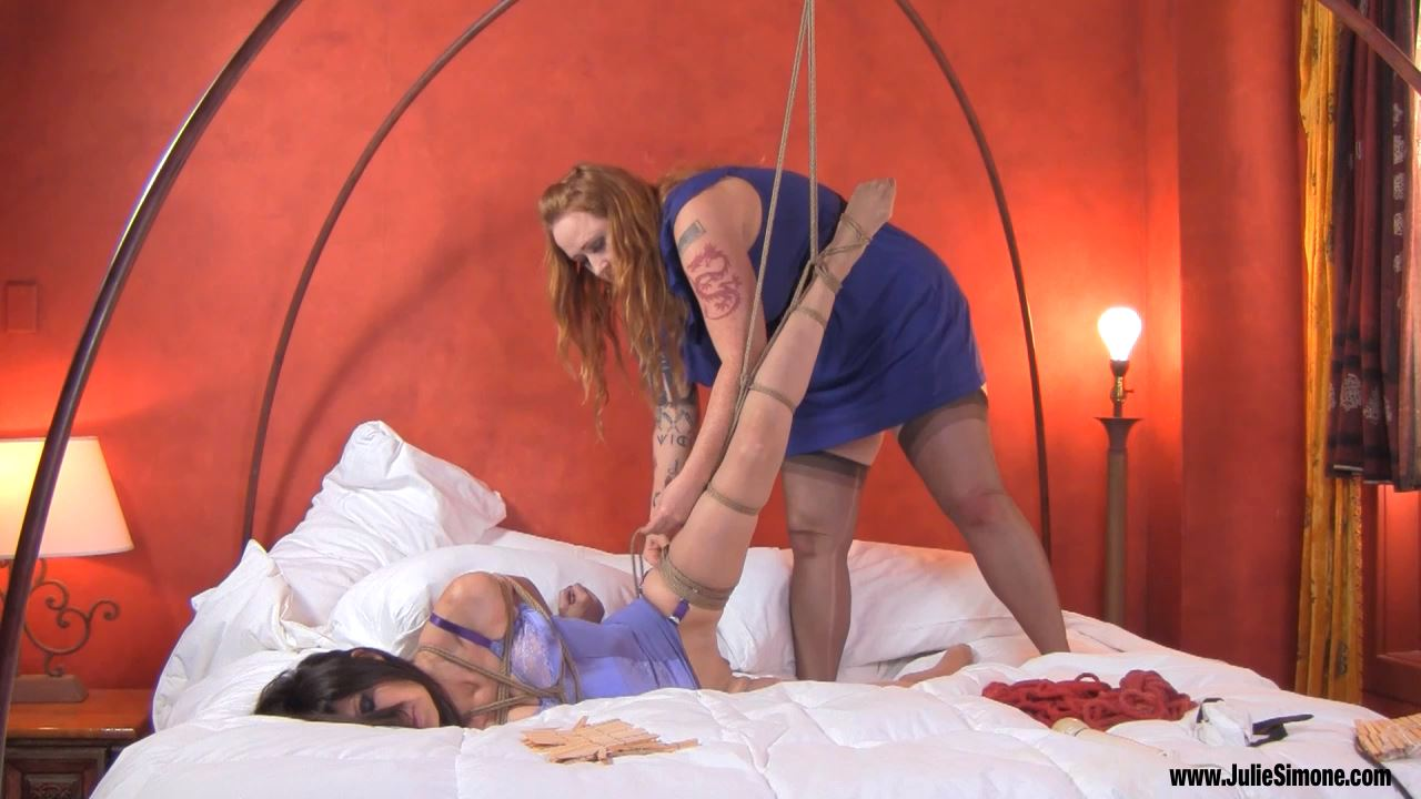Ashley Renee, Julie Simone In Scene: Ashley and Julie Binding in Purple - JULIESIMONE - HD/720p/MP4