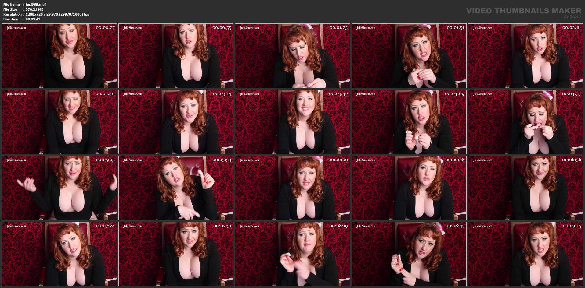 Julie Simone In Scene: Finger Condom Cum Eater JOI - JULIESIMONE - HD/720p/MP4