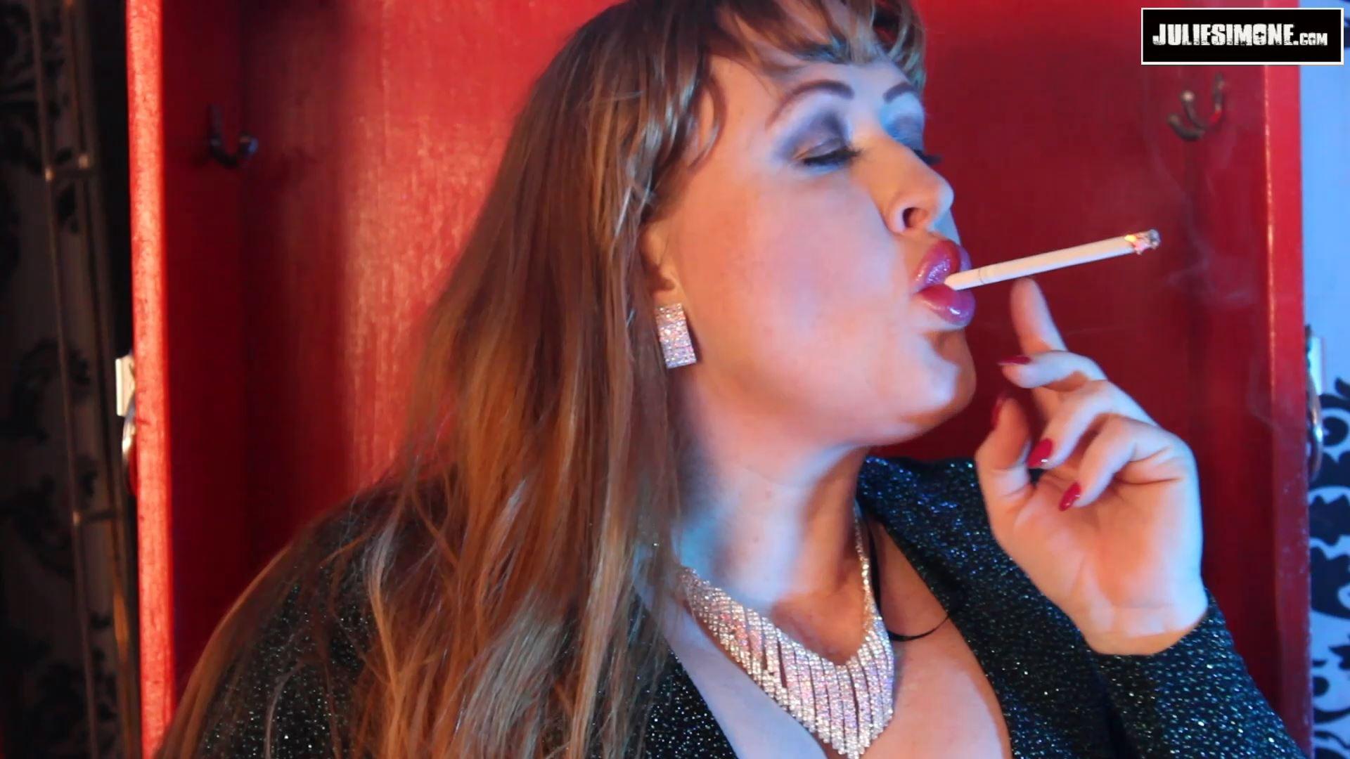 Julie Simone In Scene: Smoking Sparkly Gown - JULIESIMONE - FULL HD/1080p/MP4