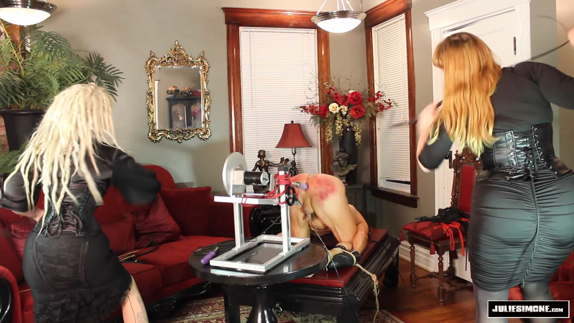 Devlynn DeSade, Julie Simone In Scene: Fucking Machine Whipping - JULIESIMONE - FULL HD/1080p/MP4