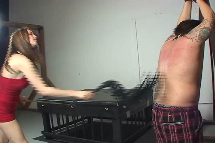 Mistress Stacy In Scene: Stacy has her slave standing shirtless in the dungeon - VIOLENTCHICKS - SD/480p/MP4