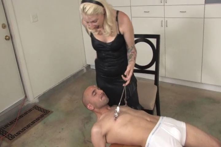 Mistress Olivia In Scene: Olivia makes Connor lie on a small wooden table - VIOLENTCHICKS - SD/480p/MP4