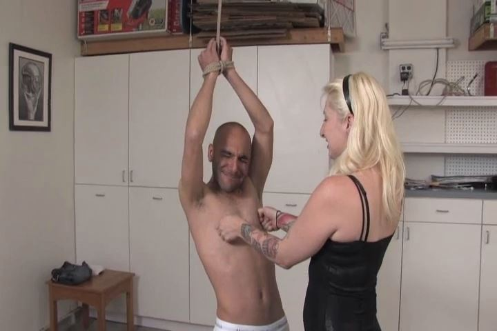 Mistress Olivia In Scene: Olivia has Connor tied up in the garage, wearing nothing but his underwear - VIOLENTCHICKS - SD/480p/MP4