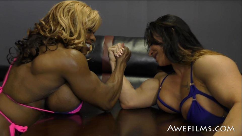 COMPETITIVE AMAZONS In Scene: Brandi vs Yvette Part 2 - AWEFILMS - SD/540p/MP4