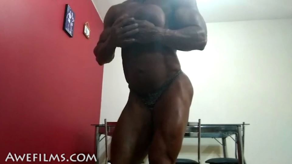GODDESS OF MUSCLE In Scene: Big Muscle Tease Part 2 - AWEFILMS - SD/540p/MP4