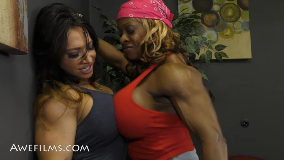 COMPETITIVE AMAZONS In Scene: Brandi vs Yvette Part 1 - AWEFILMS - SD/540p/MP4
