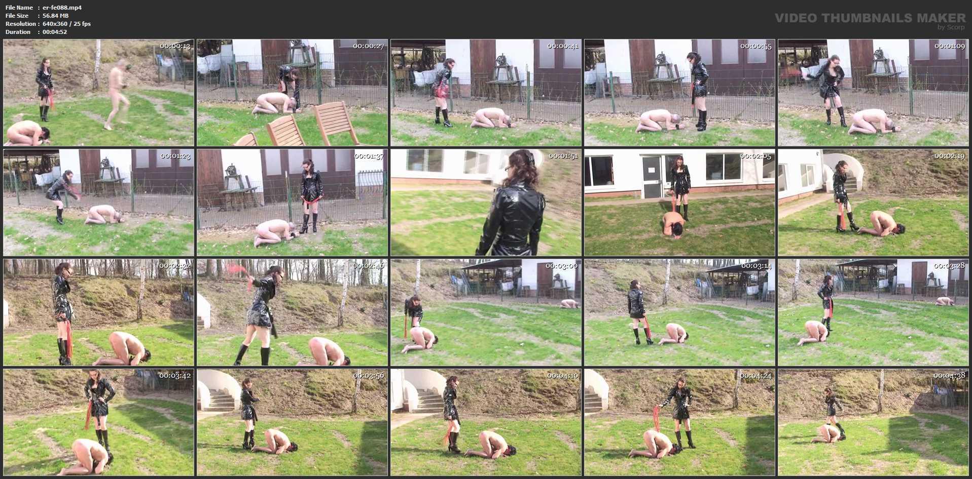Annika Bond In Scene: Two slaves in the garden - ERONITE-FEMDOM - LQ/360p/MP4