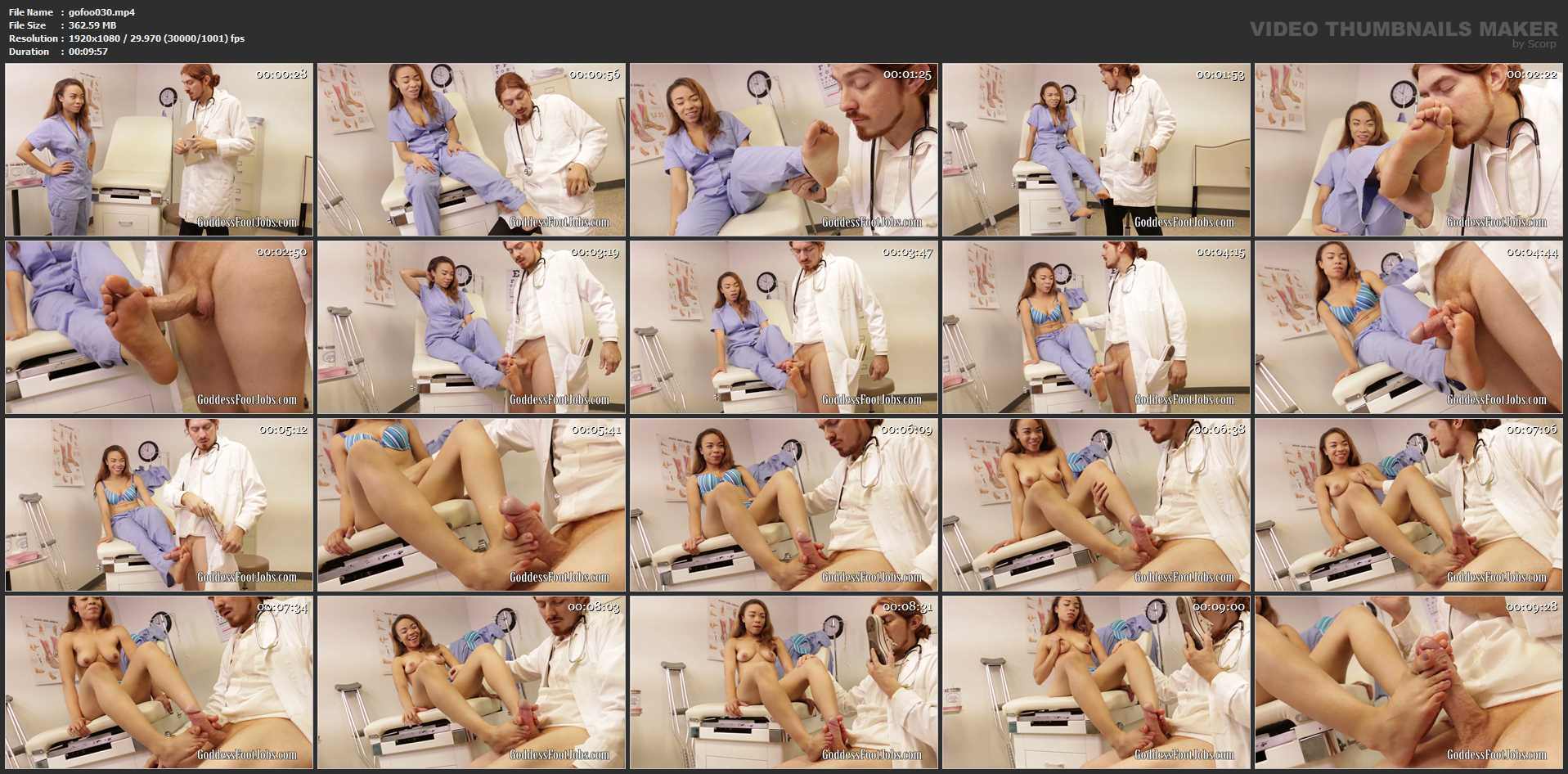 Jamie Marleigh In Scene: Can't Resist Nurse's Shoes - GODDESSFOOTJOBS - FULL HD/1080p/MP4