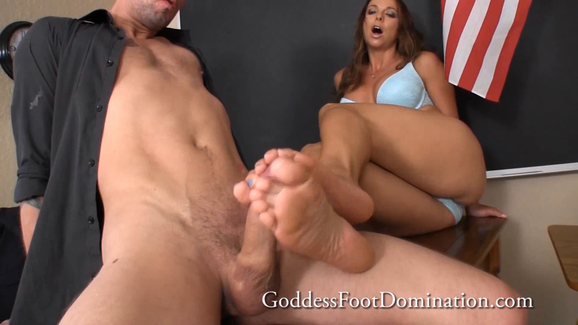 Goddess Brianna In Scene: Principal Caught Spying - GODDESSFOOTJOBS - FULL HD/1080p/MP4
