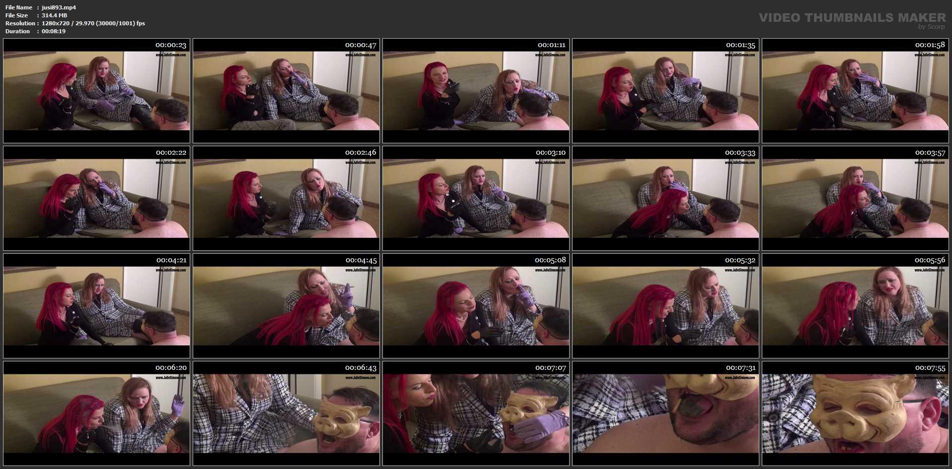 Mistrix, Julie Simone In Scene: Mistrix and Julie's Ashtray Pig - JULIESIMONE - HD/720p/MP4