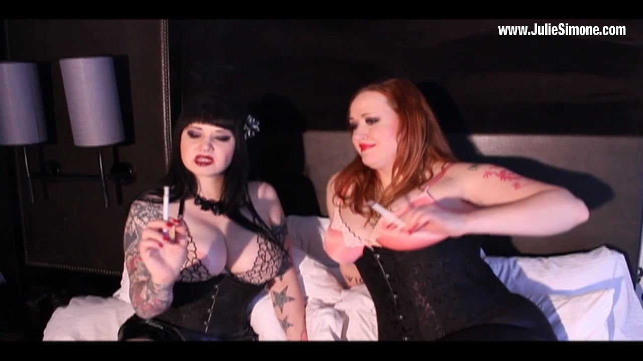 Maya Sinstress, Julie Simone In Scene: Maya and Julie Smoke in Boots - JULIESIMONE - HD/720p/MP4