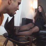 Goddess Victoria, Goddess Valentine In Scene: The taste of black stockings – SWEATREMOVER – FULL HD/1080p/MP4