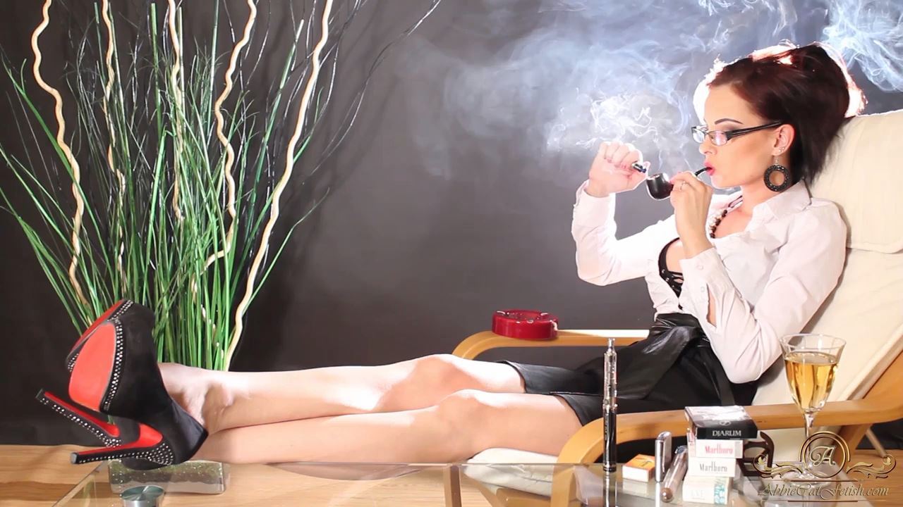 Goddess Abbie Cat In Scene: The Heavy Smoker Secretary - ABBIECATFETISH - HD/720p/MP4