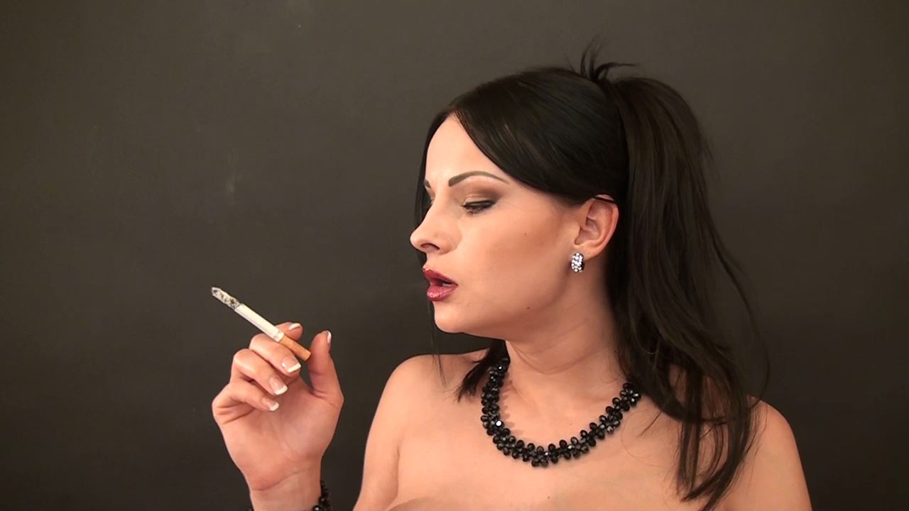 Goddess Abbie Cat In Scene: Smoking Topless - ABBIECATFETISH - HD/720p/MP4