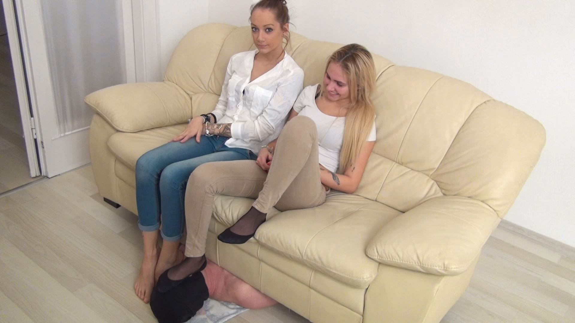 Mistress Candy, Sandy In Scene: Slave under the couch - ABBIECATFETISH - FULL HD/1080p/MP4