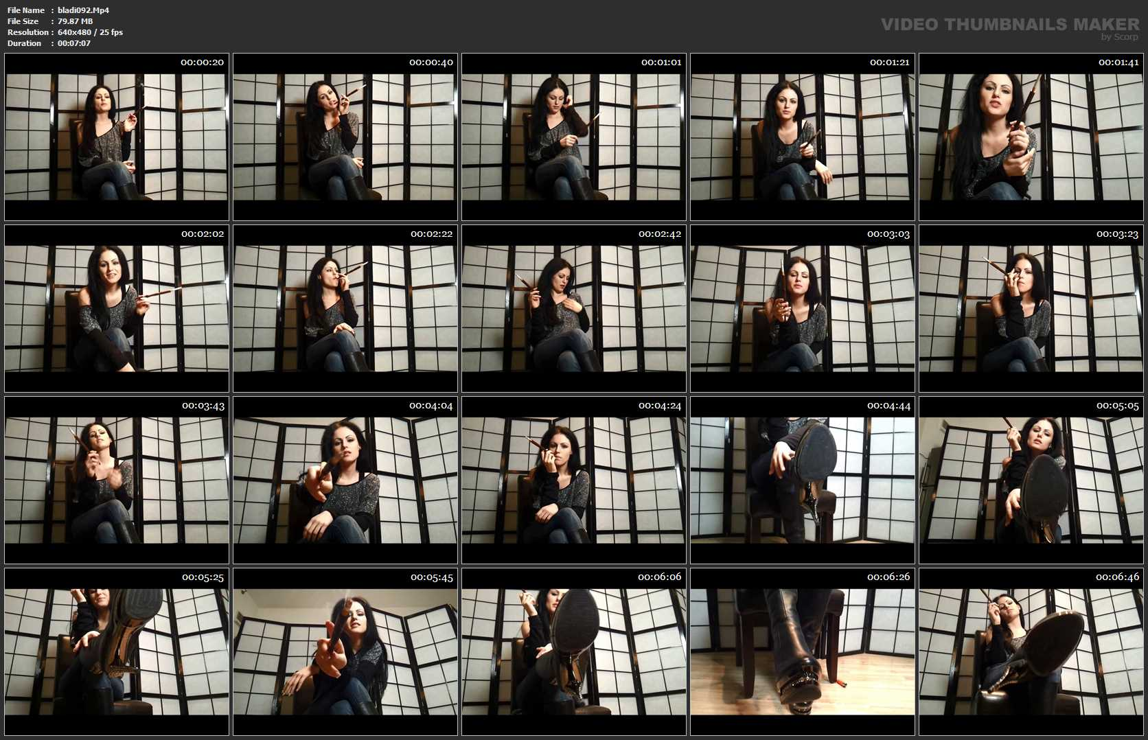 Mistress Blackdiamoond In Scene: Smoke Pov - CLIPS4SALE / BLACKDIAMOOND - SD/480p/MP4