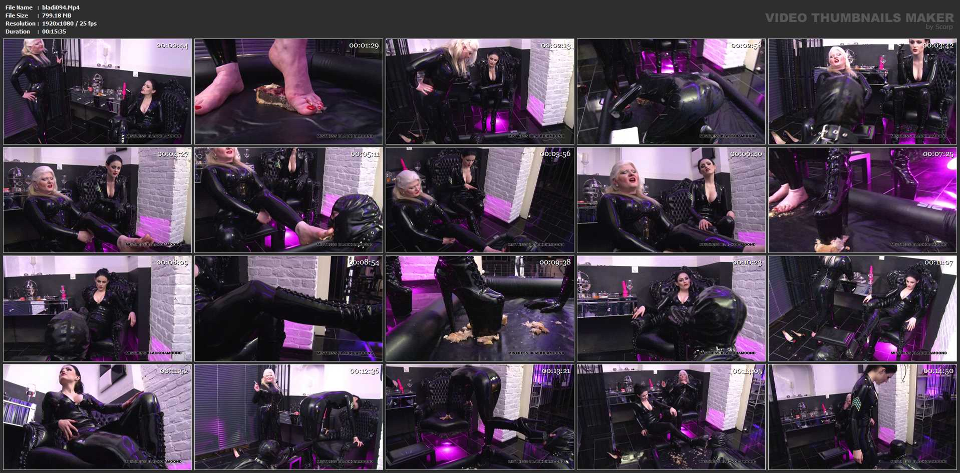 Mistress Blackdiamoond In Scene: Crushing In Latex Part 1 - CLIPS4SALE / BLACKDIAMOOND - FULL HD/1080p/MP4