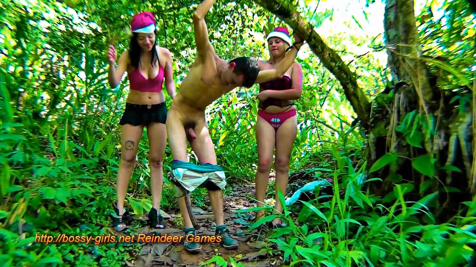 Jane Guerrero, Mlada, Worthless Scum In Scene: REINDEER GAMES 3 Jolly Good Beatings - BOSSY-GIRLS - FULL HD/1080p/MP4
