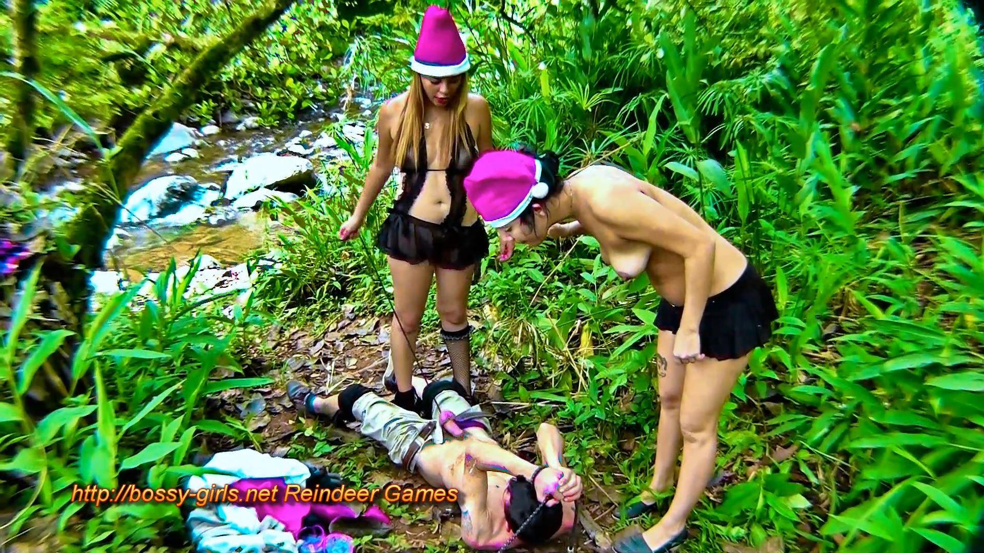 Jane Guerrero, Mlada, Worthless Scum In Scene: REINDEER GAMES 05 Limp Male Organ Stretch Gift - BOSSY-GIRLS - FULL HD/1080p/MP4