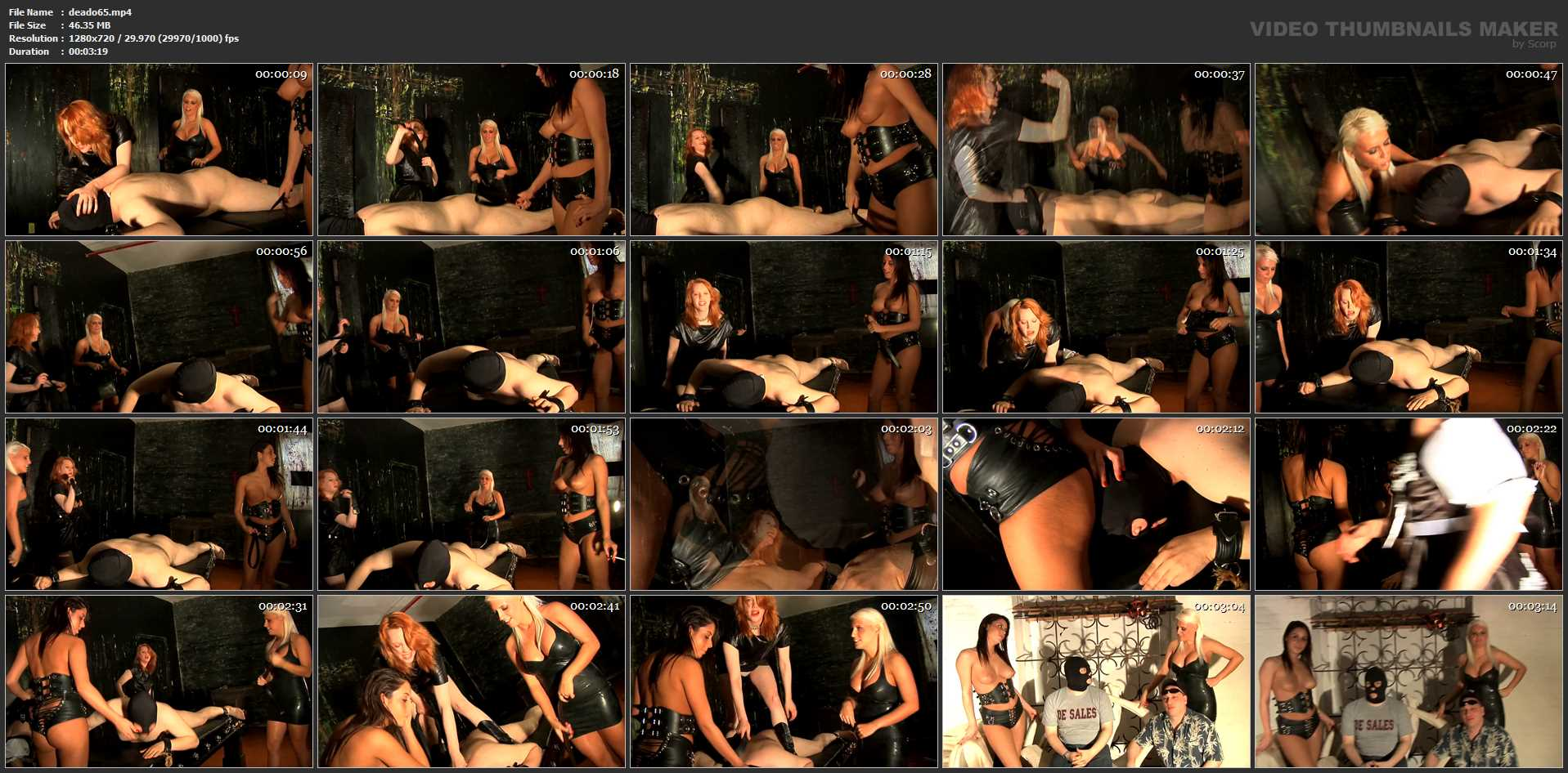 Mistress Dietrich, Mistress Jack Joy, Mistress Audrina In Scene: Tripple Dom Belt Beatdown - DEADLYDOMMES - HD/720p/MP4