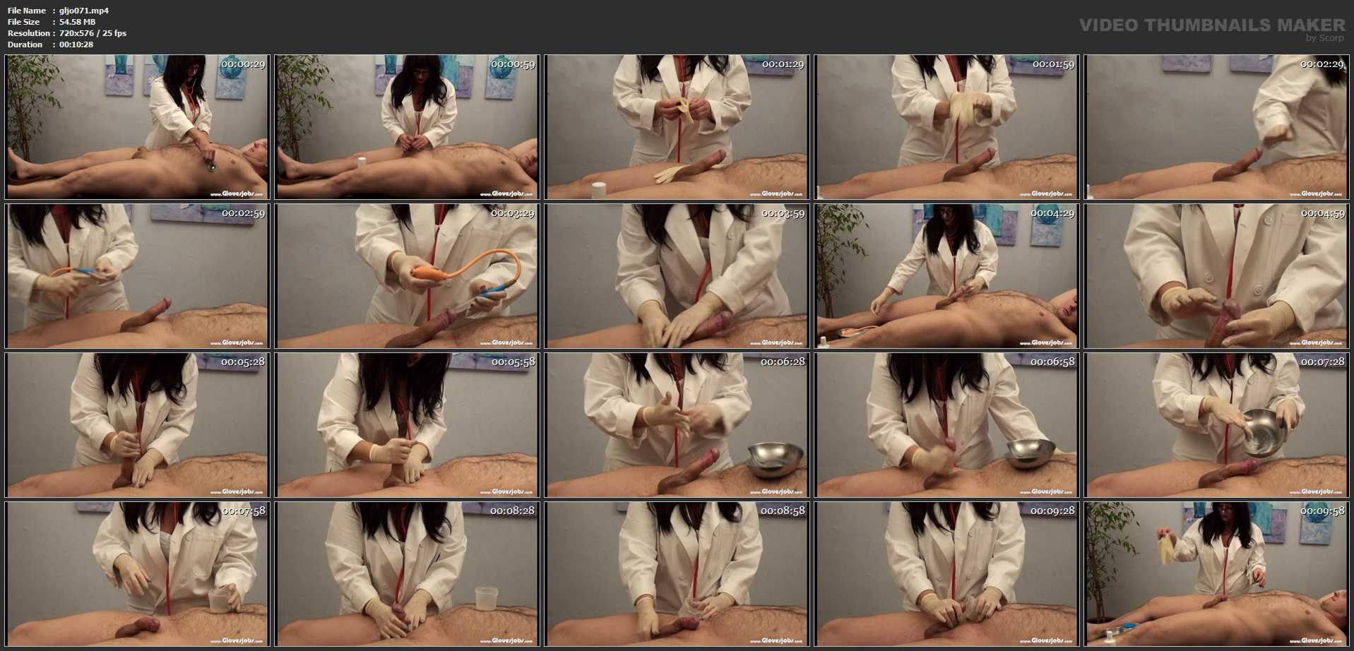Medical Gloved Handjob by Miss Doctor - GLOVESJOBS - SD/576p/MP4