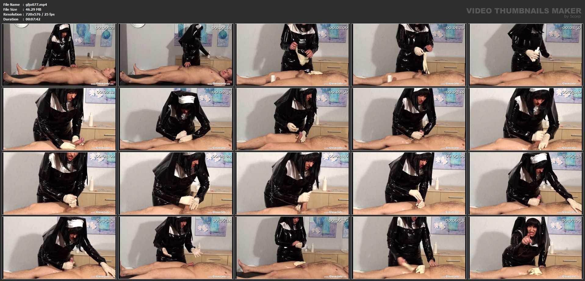 Fetish Nun milking Gloves Job - GLOVESJOBS - SD/576p/MP4
