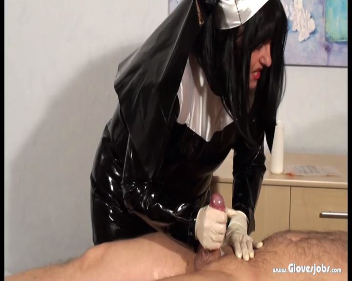 Fetish Nun milking Gloves Job - GLOVESJOBS - SD/576p/MP4