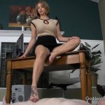 Goddess Brianna In Scene: Office, FootBitch Milking – GODDESSFOOTJOBS – FULL HD/1080p/MP4