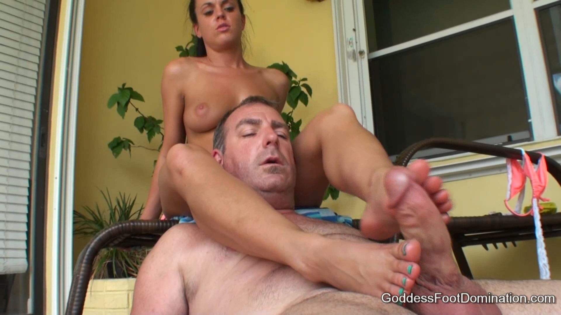 Goddess Rahyndee In Scene: Neighbor Trapped - GODDESSFOOTJOBS - FULL HD/1080p/MP4