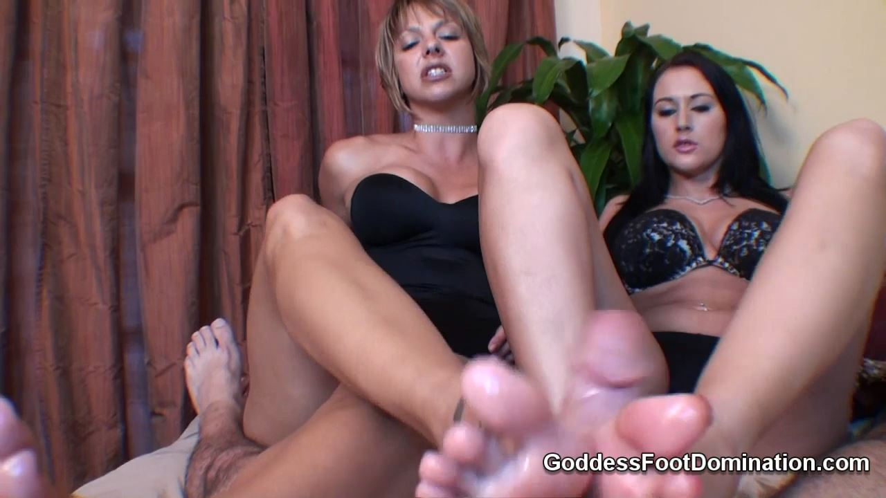 Goddess Brianna, Goddess Alexis In Scene: Footjob leaves slut more than cum stained - GODDESSFOOTJOBS - HD/720p/MP4