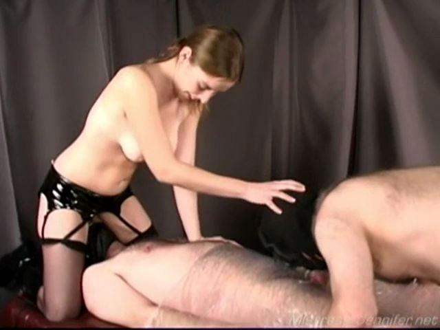 Mistress Sarah, Slave Cucky, Slave Jack In Scene: Face Fucked Jerk - LAKEVIEW ENTERTAINMENT - SD/480p/MP4