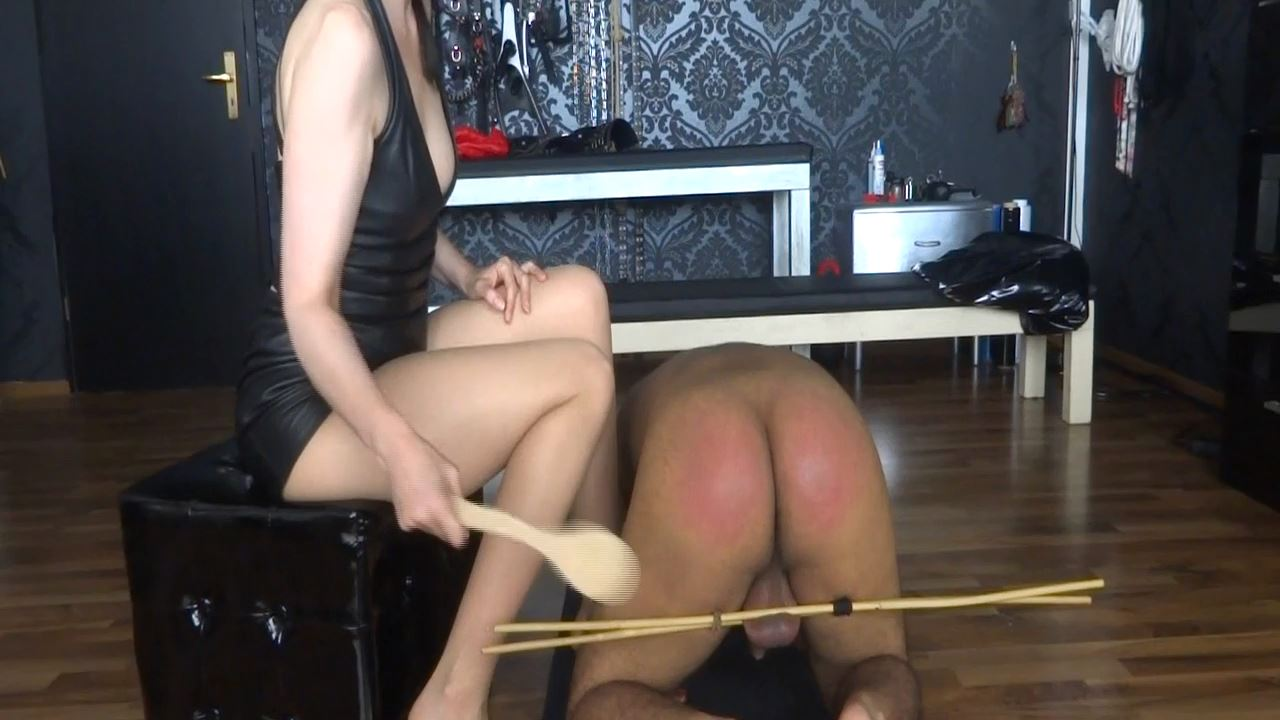 Lady Victoria Valente In Scene: Slave Theo wooden spanking Part 7 - CLIPS4SALE / LADYVICTORIAVALENTE - HD/720p/MP4