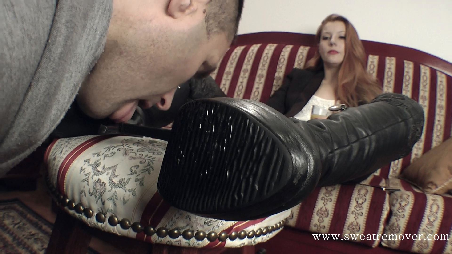 Goddess Victoria In Scene: An entire night spent in boots (Bitch, relax my soles) - SWEATREMOVER - FULL HD/1080p/MP4