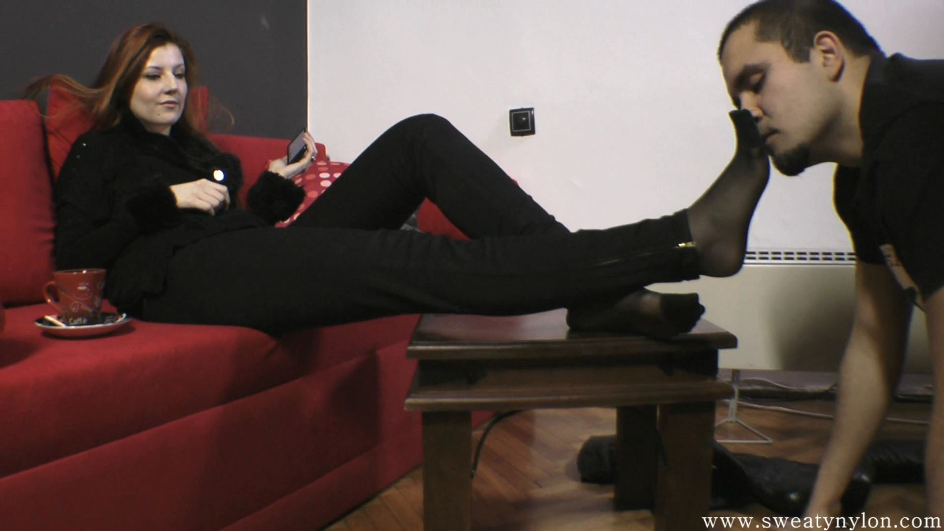 Goddess Victoria In Scene: Clean my dirty boots, sweaty stockings and smelly feet Part 3 - SWEATREMOVER - FULL HD/1080p/MP4