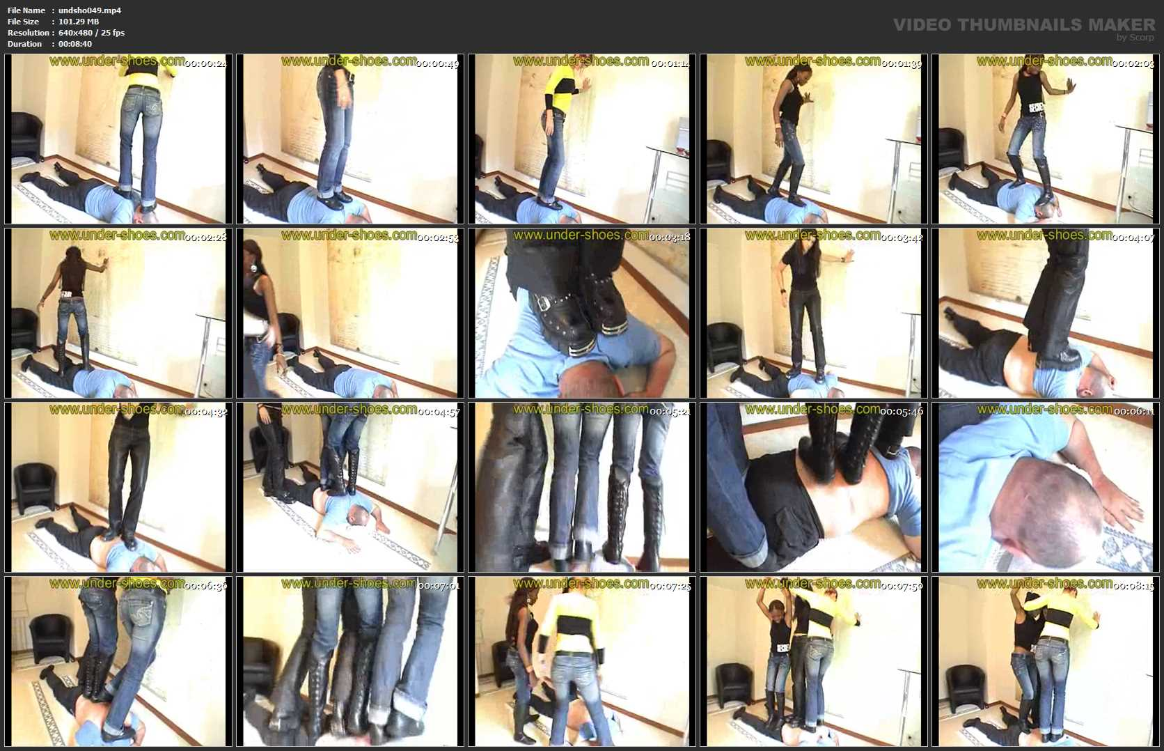 3 Girls Trample - UNDER-SHOES - SD/480p/MP4