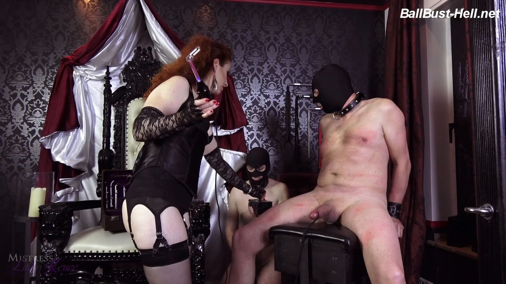 Mistress Lady Renee In Scene: Electro nipples and cock - MistressLadyRenee - FULL HD/1080p/MP4