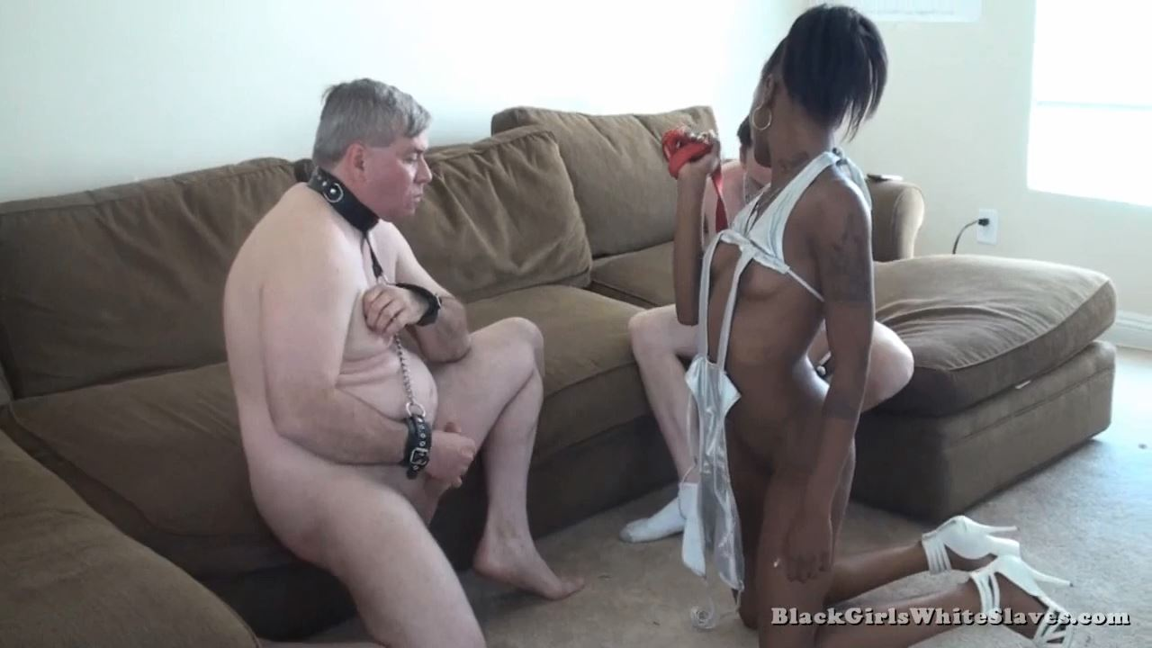 Loser Eats Cum - BLACKGIRLSWHITESLAVES - HD/720p/MP4