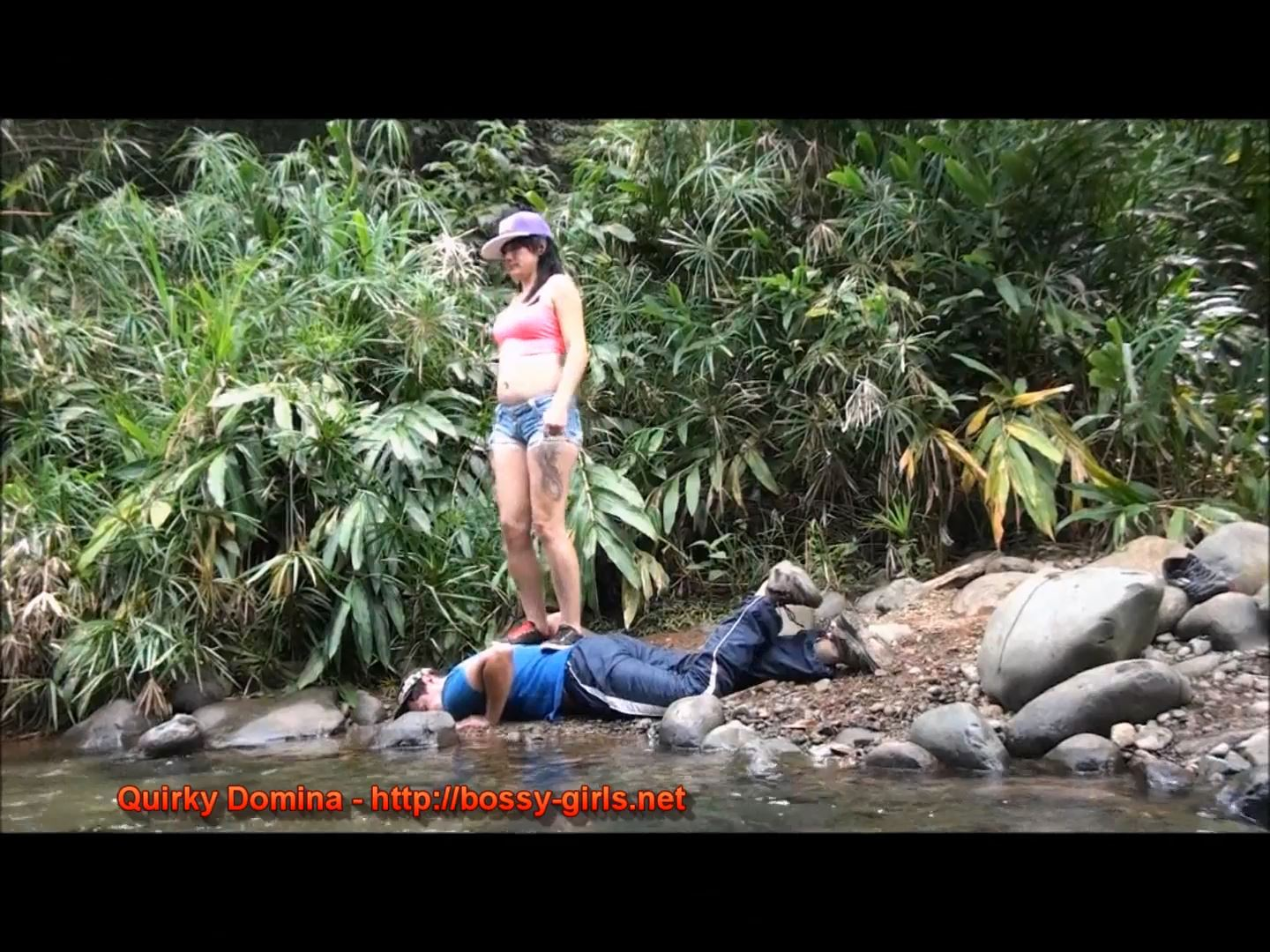 Mistress Yaza In Scene: QUIRKY DOMINA 02 Riveside Sports Flog & Trample - BOSSY-GIRLS - FULL HD/1080p/MP4