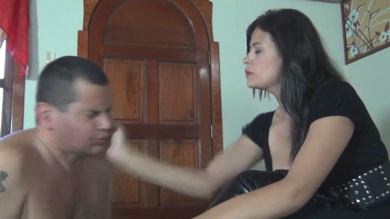 Kalinda In Scene: Cruel Face Slapping Of A Stupid Boot Slave - LATINBEAUTIESINHIGHHEELS - HD/720p/MP4