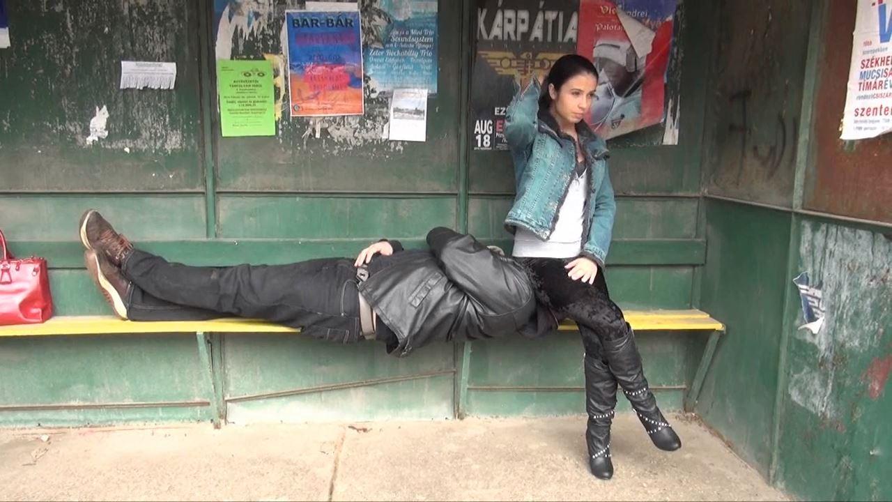 Mistress Mira In Scene: HUMILIATION CUCKOLD PRINCESS - PUBLIC FEMDOM IN THE BUS STATION: FACESITTING - MAGYARMISTRESSMIRA - HD/720p/MP4