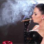 Goddess Abbie Cat In Scene: Smoking Big Cigar in Gloves – ABBIECATFETISH – HD/720p/MP4